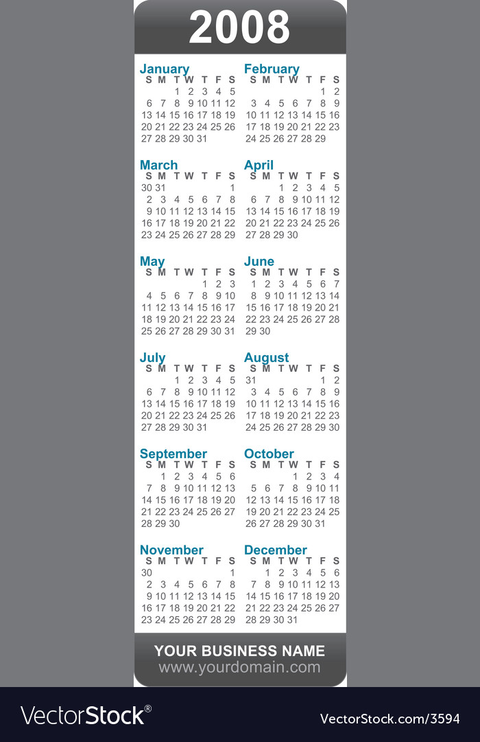 2008 calendar bookmark vector | Price: 1 Credit (USD $1)