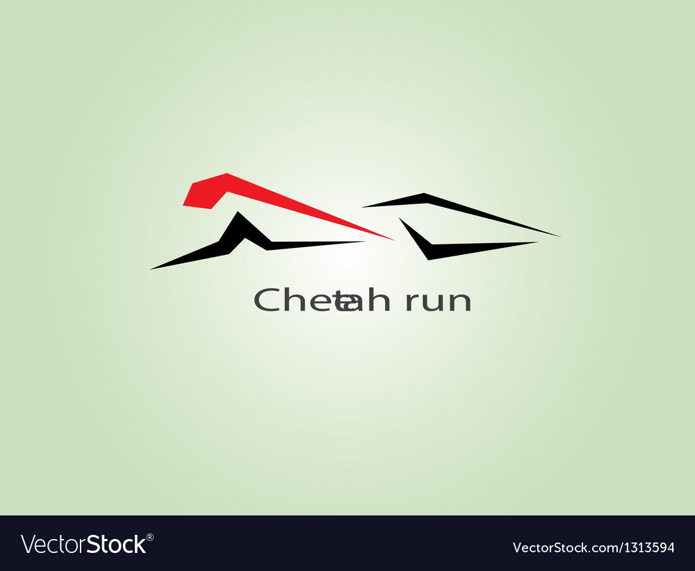 Cheetah run vector | Price: 1 Credit (USD $1)