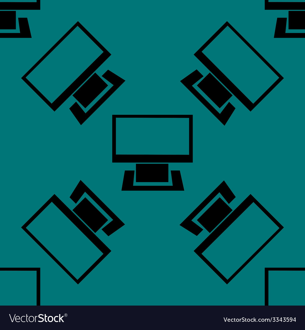 Computer web icon flat design seamless gray vector   Price: 1 Credit (USD $1)