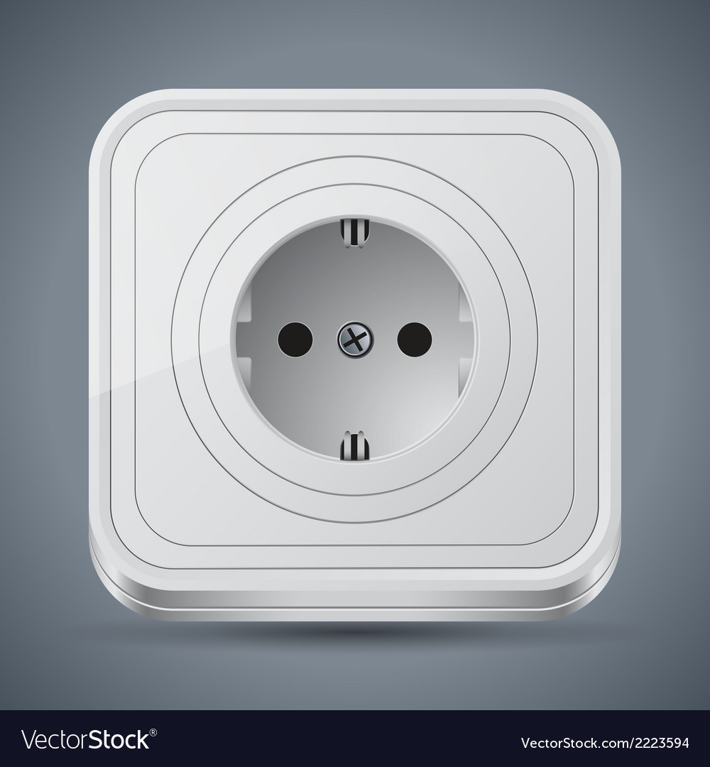 Electric outlet vector   Price: 1 Credit (USD $1)