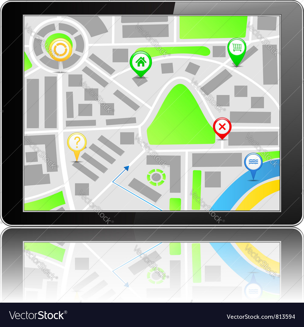 Gps navigation system vector | Price: 1 Credit (USD $1)