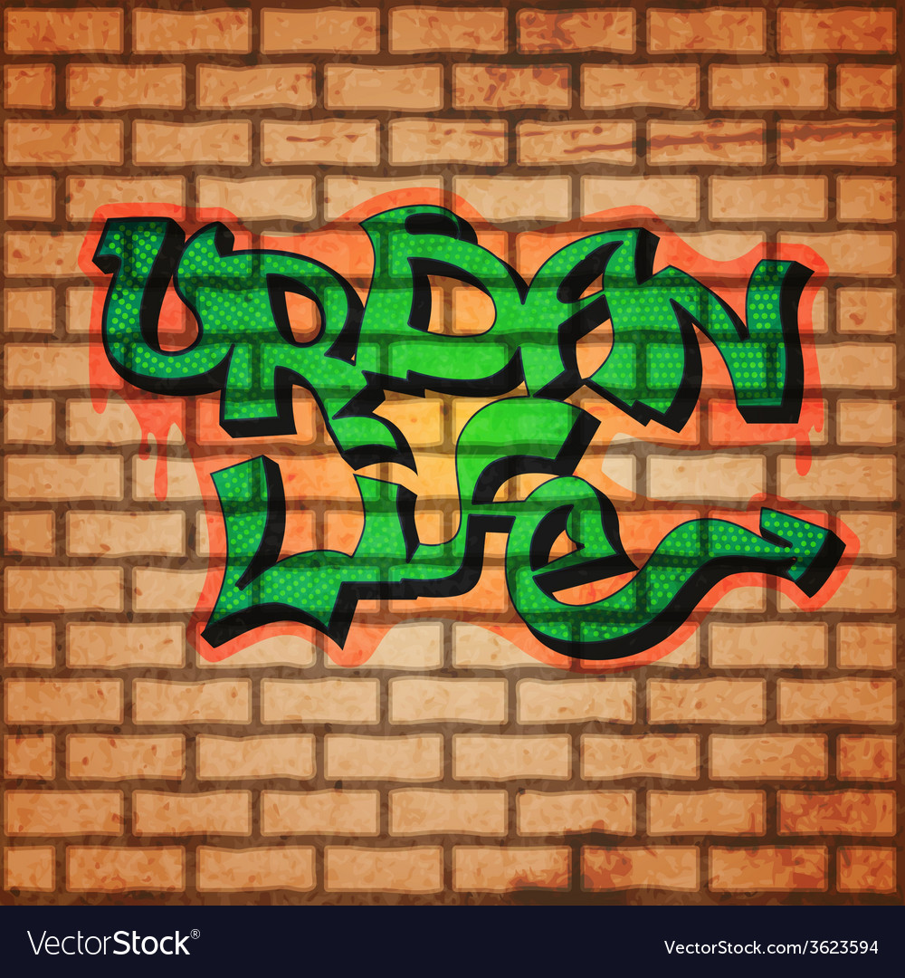 Graffiti wall background vector | Price: 1 Credit (USD $1)