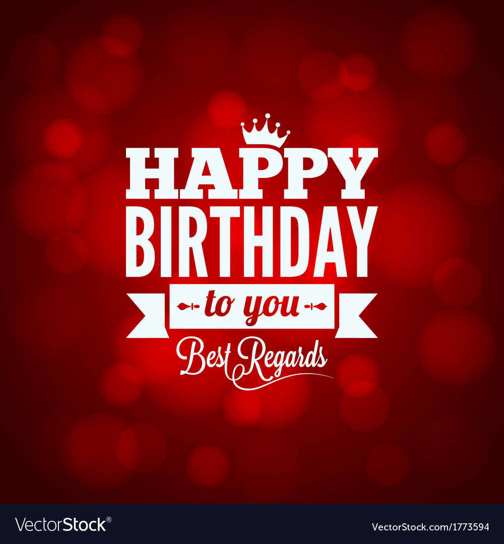 Happy birthday sign design background vector | Price: 1 Credit (USD $1)