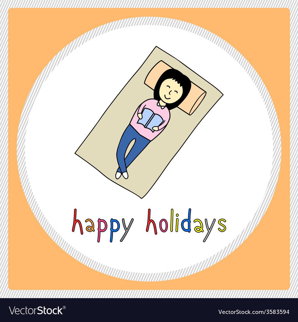 Happy holidays22 vector | Price: 1 Credit (USD $1)