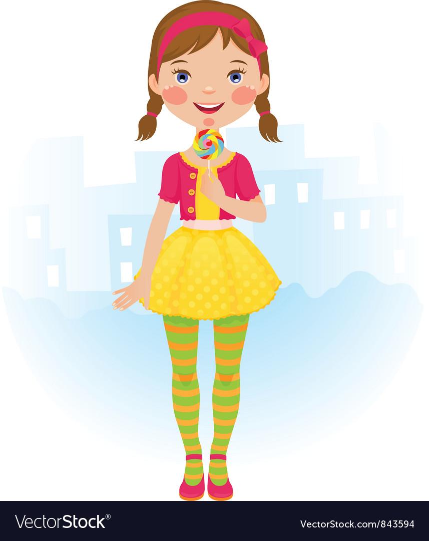 Lollipop girl vector   Price: 3 Credit (USD $3)