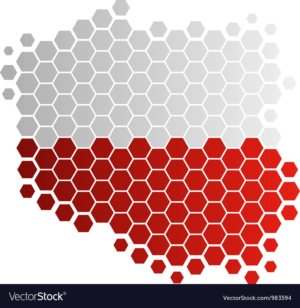 Map and flag of poland vector | Price: 1 Credit (USD $1)