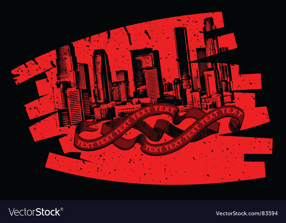 Red black grunge graffiti banner vector | Price: 1 Credit (USD $1)