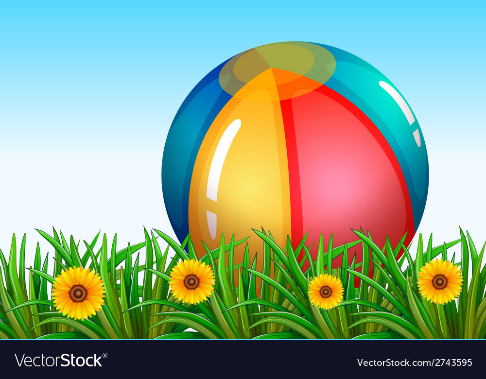 A big inflatable ball in the sky vector | Price: 1 Credit (USD $1)