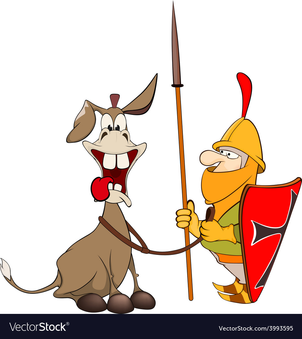 A knight and knightly donkey vector | Price: 1 Credit (USD $1)