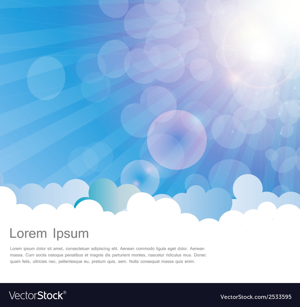 Abstract natural sunshine and cloud background vector | Price: 1 Credit (USD $1)