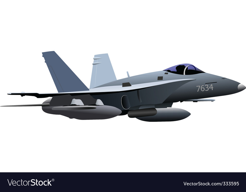 Air force combat plane vector | Price: 1 Credit (USD $1)