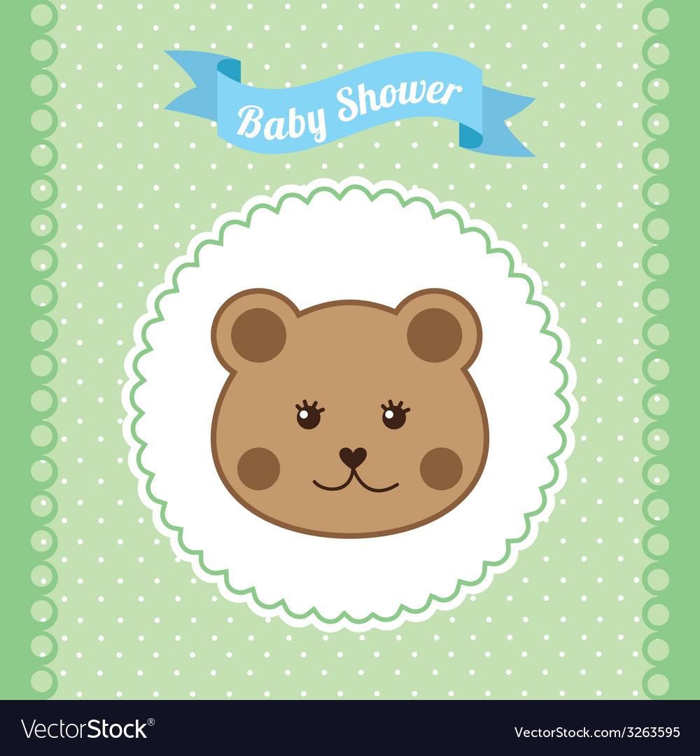 Babby shower design vector | Price: 1 Credit (USD $1)