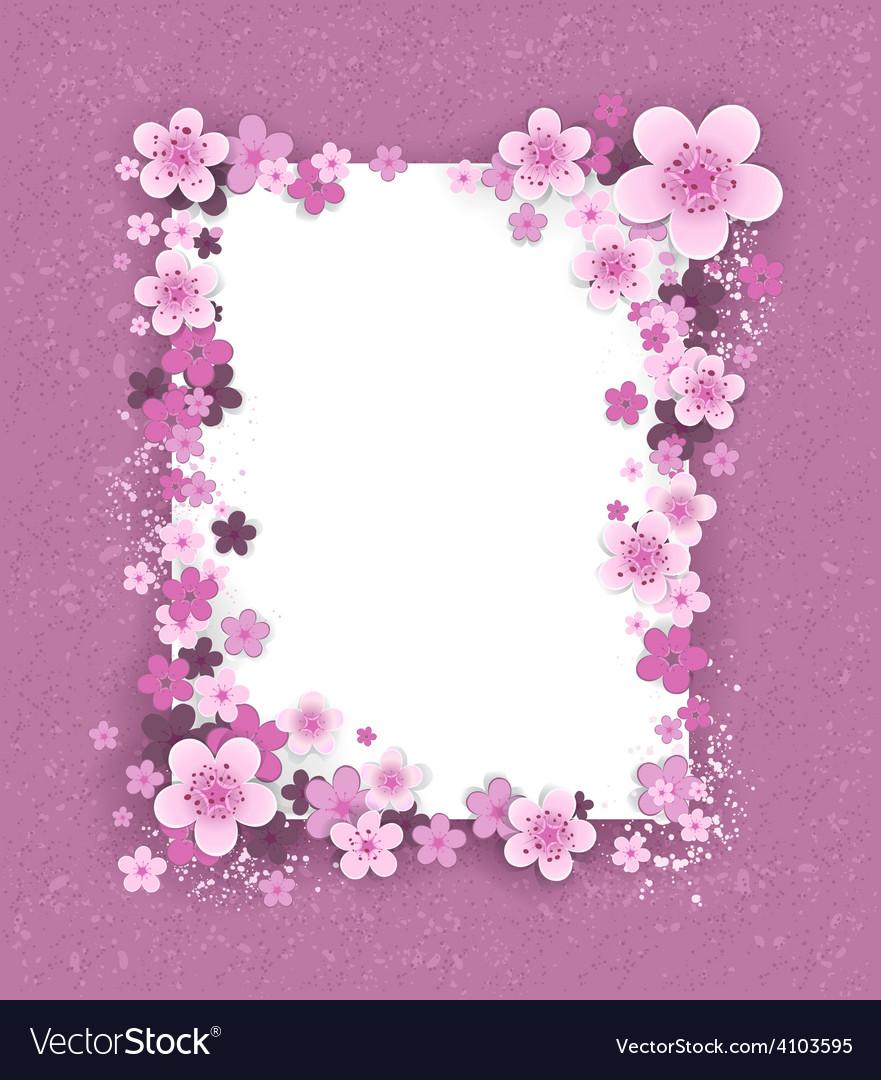 Banner with sakura flowers vector   Price: 1 Credit (USD $1)