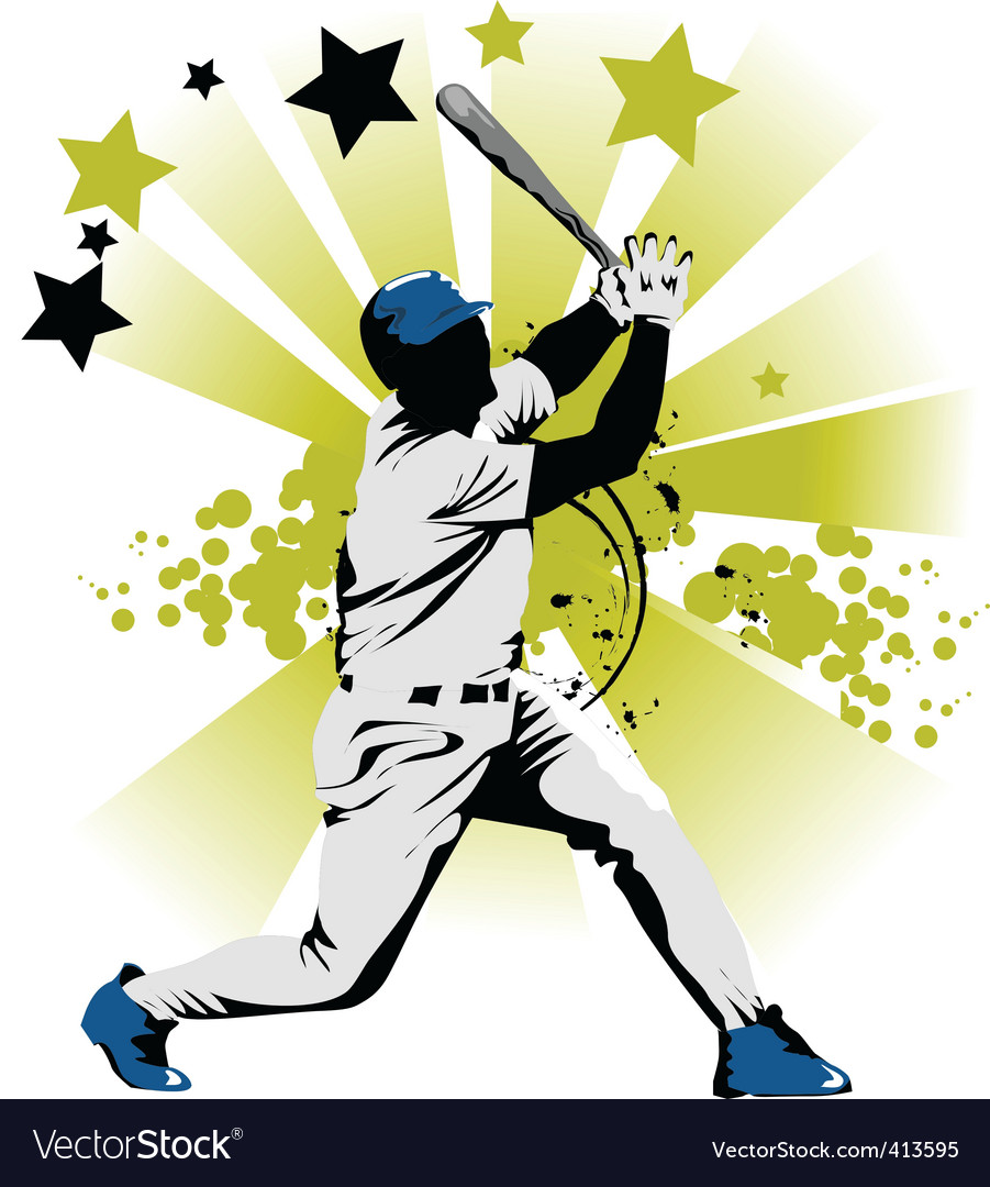 Baseball star vector | Price: 1 Credit (USD $1)