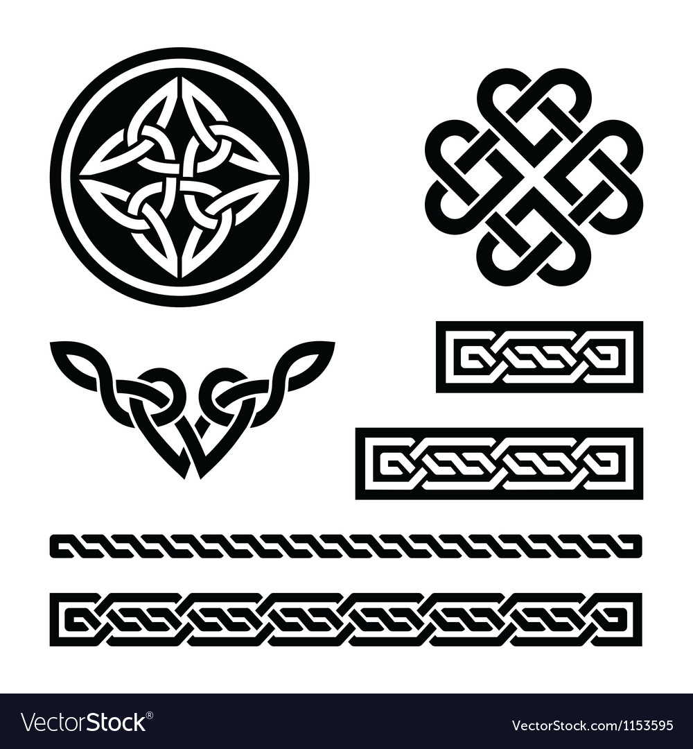 Celtic knots braids and patterns - vector | Price: 1 Credit (USD $1)