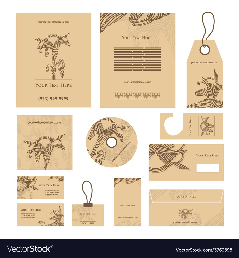 Decorative document template vector   Price: 1 Credit (USD $1)