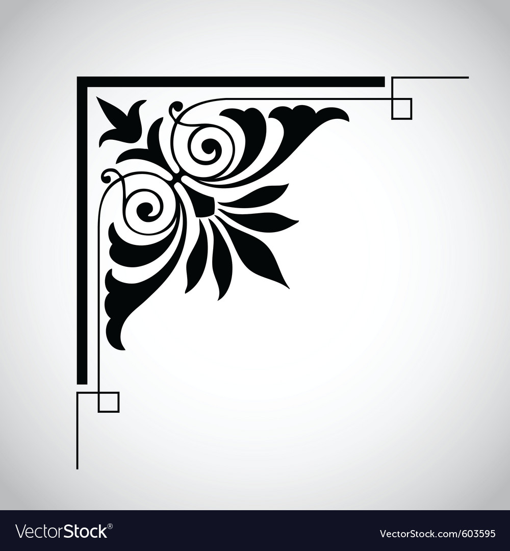 Decorative vintage design element 5 vector | Price: 1 Credit (USD $1)
