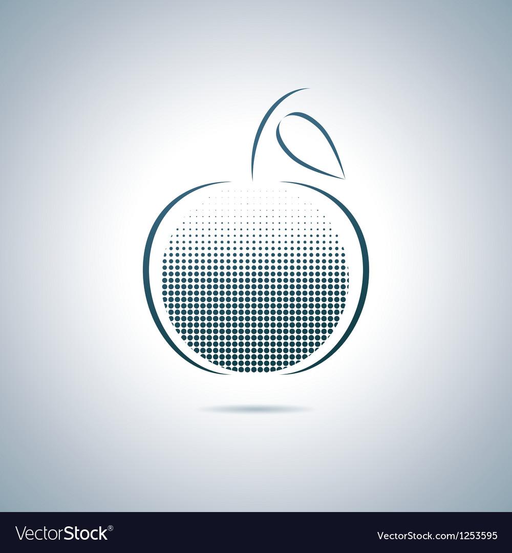 Digital apple vector | Price: 1 Credit (USD $1)