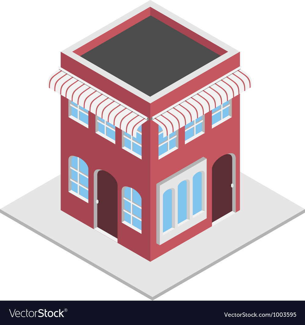 Isometric shop vector | Price: 1 Credit (USD $1)