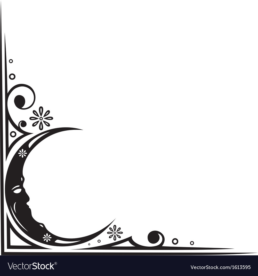 Moon border vector | Price: 1 Credit (USD $1)