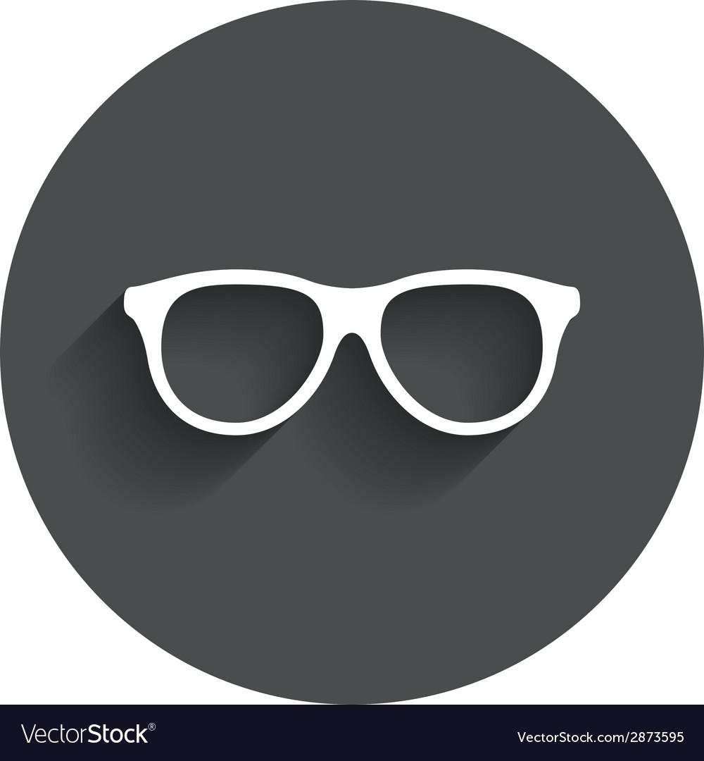 Retro glasses sign icon eyeglass frame symbol vector | Price: 1 Credit (USD $1)