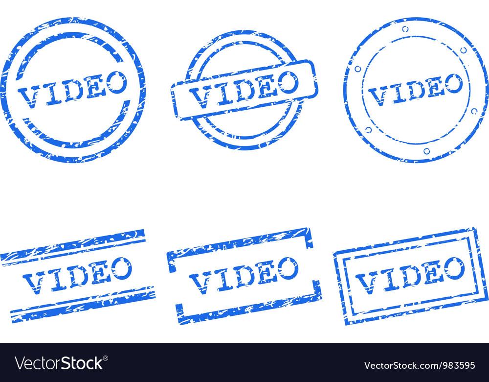 Video stamp vector | Price: 1 Credit (USD $1)