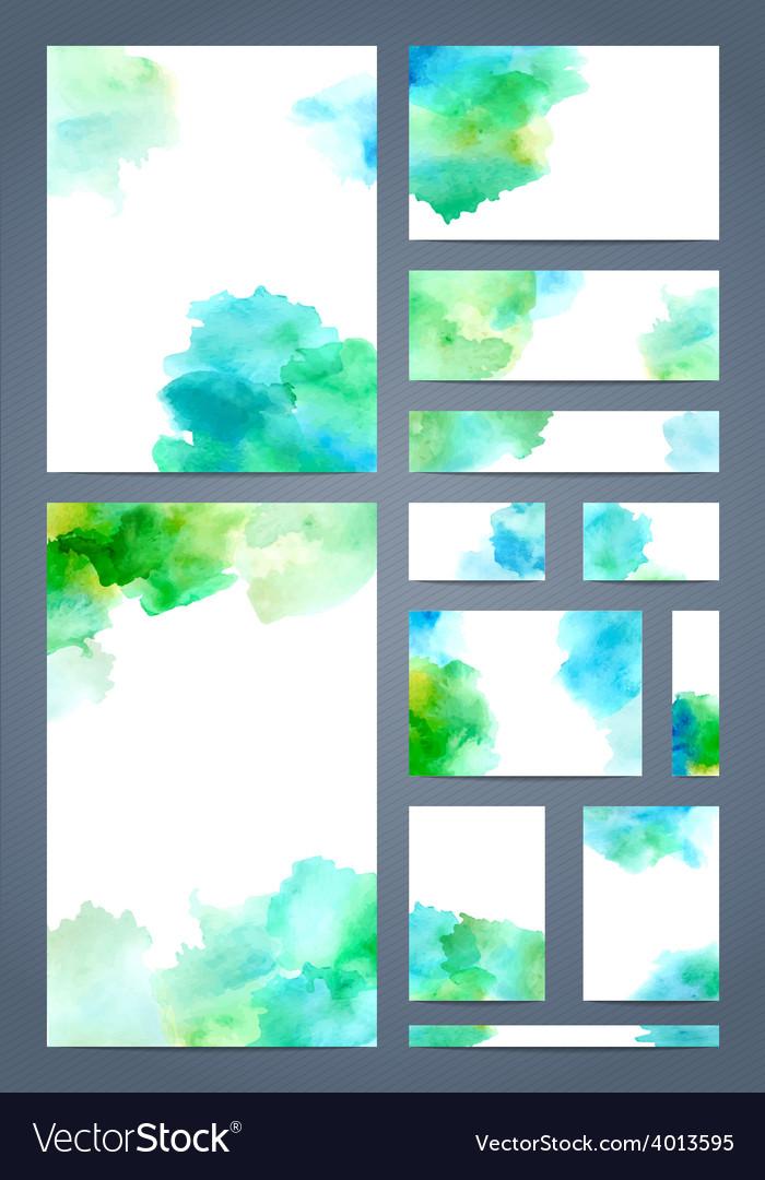 Watercolour design templates vector | Price: 1 Credit (USD $1)