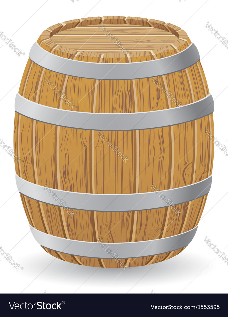 Wooden barrel 01 vector | Price: 1 Credit (USD $1)