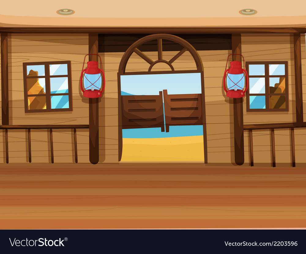 A saloon bar with two lamps vector | Price: 1 Credit (USD $1)