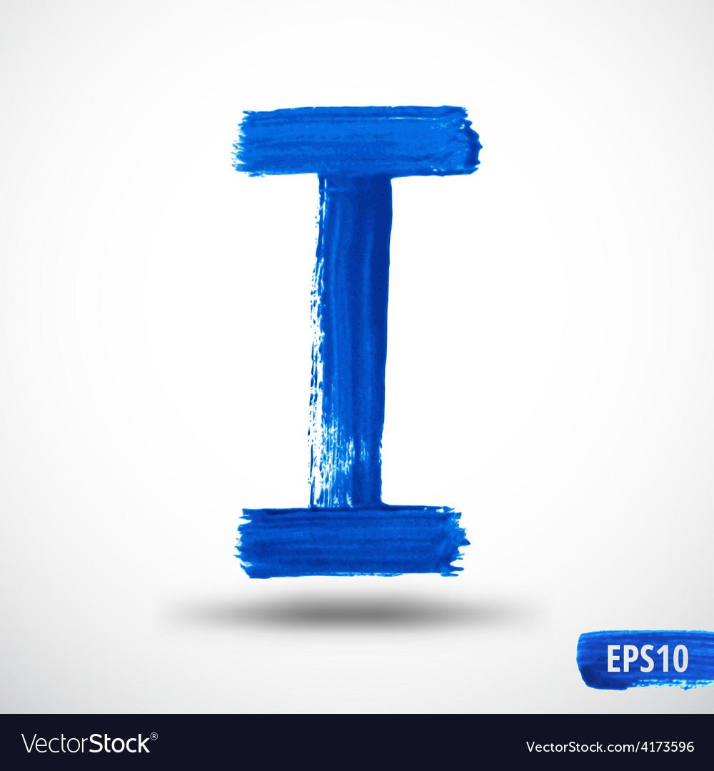 Alphabet letter i watercolor alphabet vector | Price: 1 Credit (USD $1)