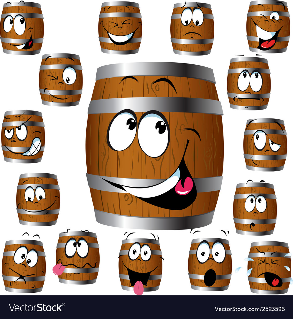 Barrel cartoon vector | Price: 1 Credit (USD $1)