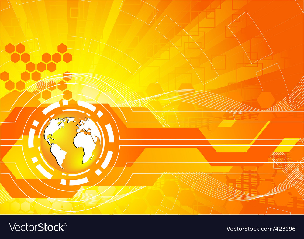 bright orange background vector | Price: 1 Credit (USD $1)