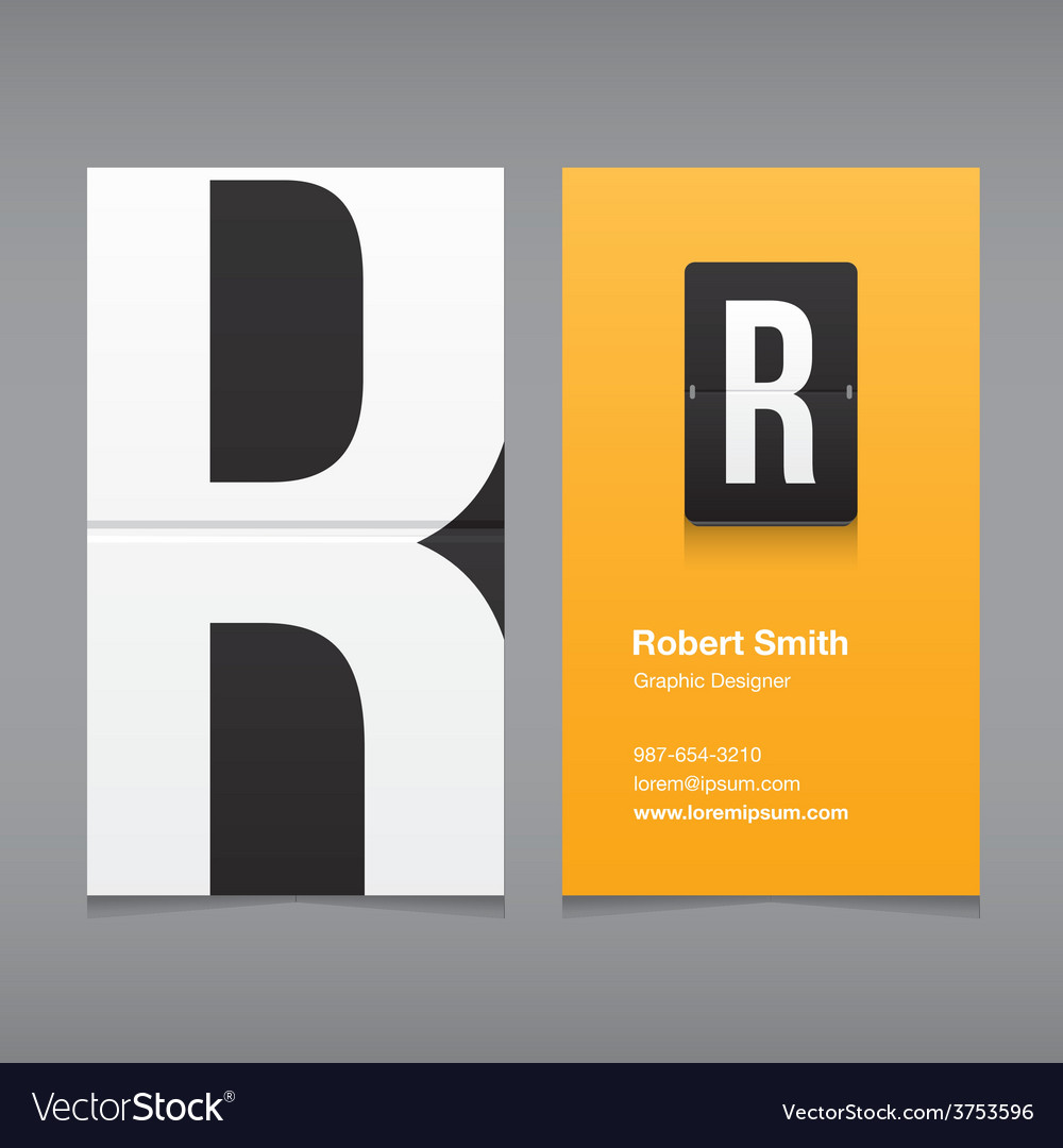 Business card letter r vector | Price: 1 Credit (USD $1)