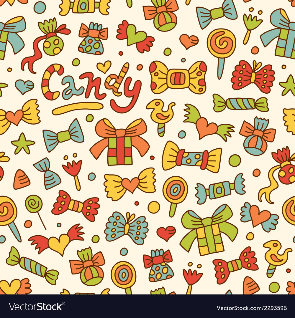 Candy pattern vector | Price: 1 Credit (USD $1)