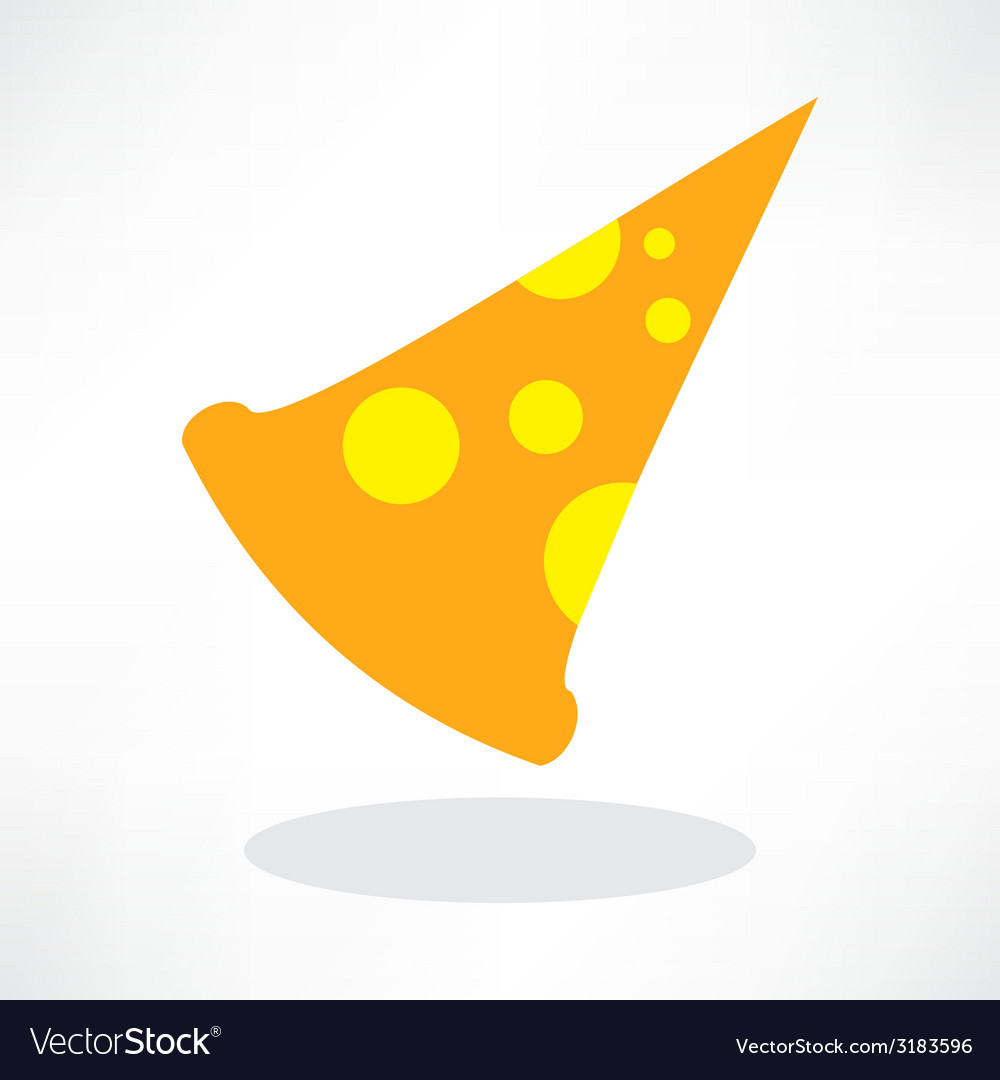 Fast food icon slice of pepperoni pizza vector | Price: 1 Credit (USD $1)