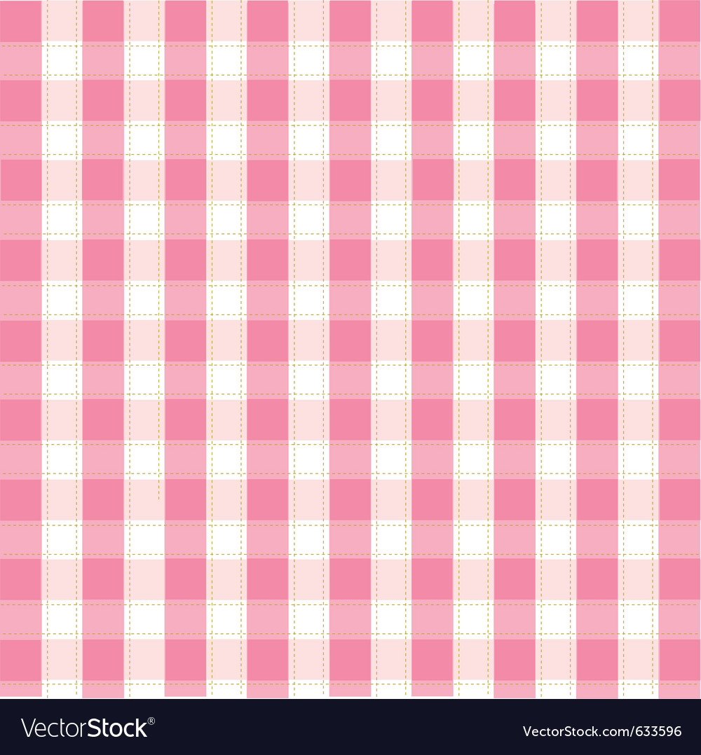 Seamless pink plaid pattern vector | Price: 1 Credit (USD $1)