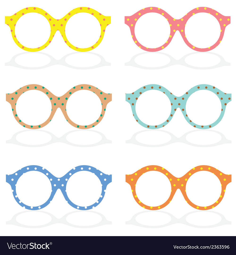 Set of colorful eyeglasses vector | Price: 1 Credit (USD $1)