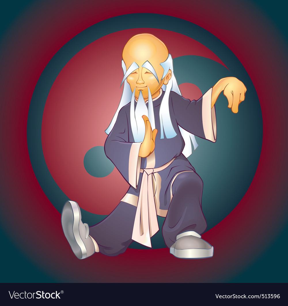 Tai chi master vector | Price: 3 Credit (USD $3)