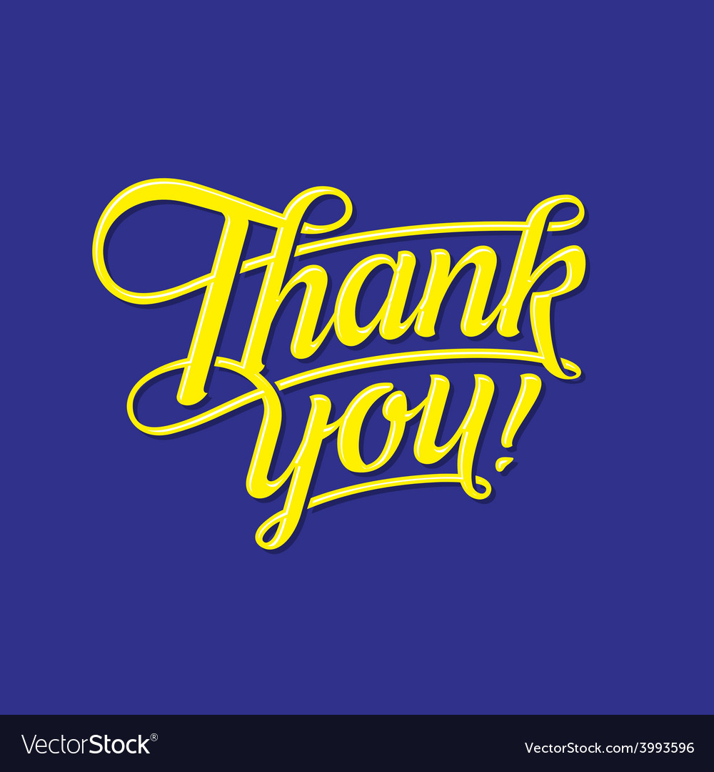 Thank you lettering vector   Price: 1 Credit (USD $1)