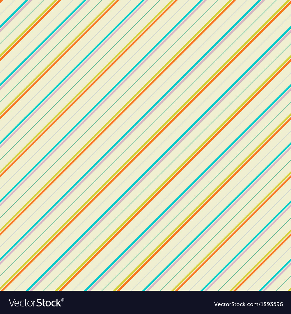 Vintage diagonal stripe seamless pattern tiling vector | Price: 1 Credit (USD $1)