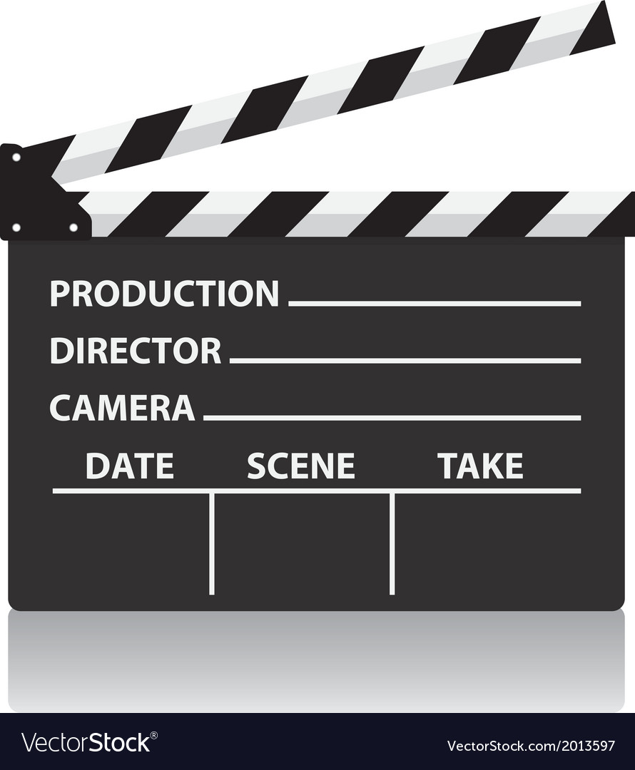 Chalkboard movie director slate vector | Price: 1 Credit (USD $1)