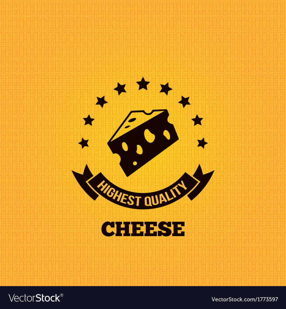 Cheese vintage label design background vector | Price: 1 Credit (USD $1)