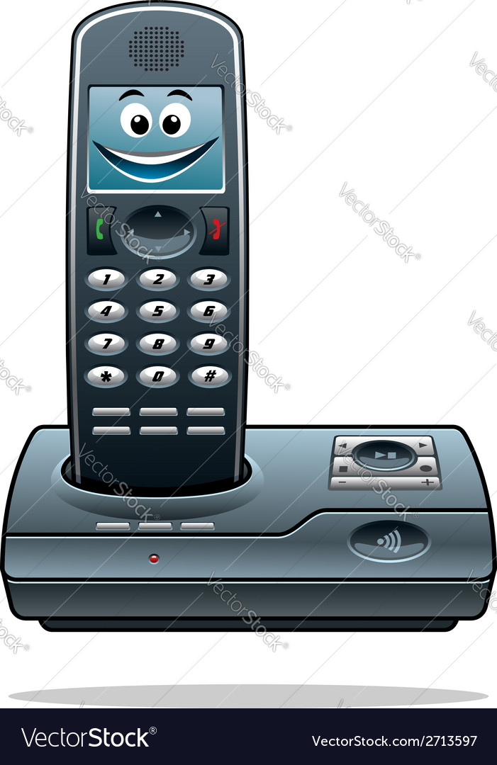 Cordless telephone vector | Price: 1 Credit (USD $1)