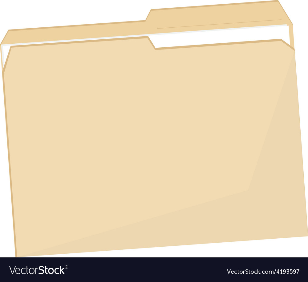 Empty file folder vector | Price: 1 Credit (USD $1)