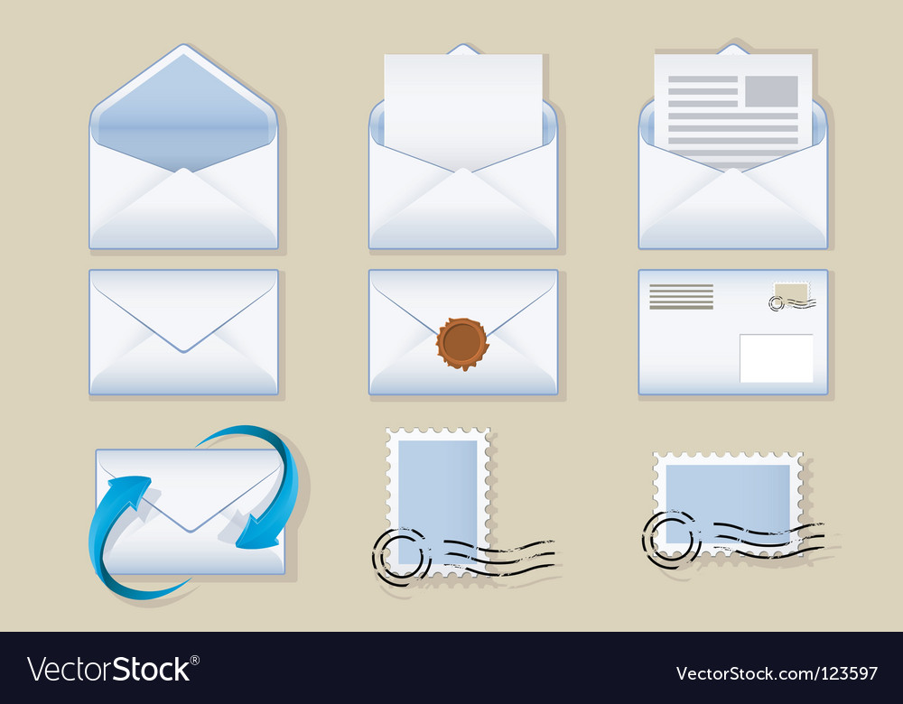 Envelope icons vector | Price: 1 Credit (USD $1)