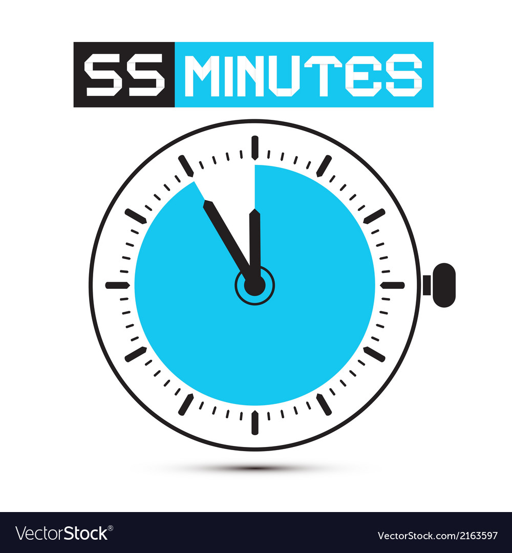 Fifty five minutes stop watch - clock vector | Price: 1 Credit (USD $1)