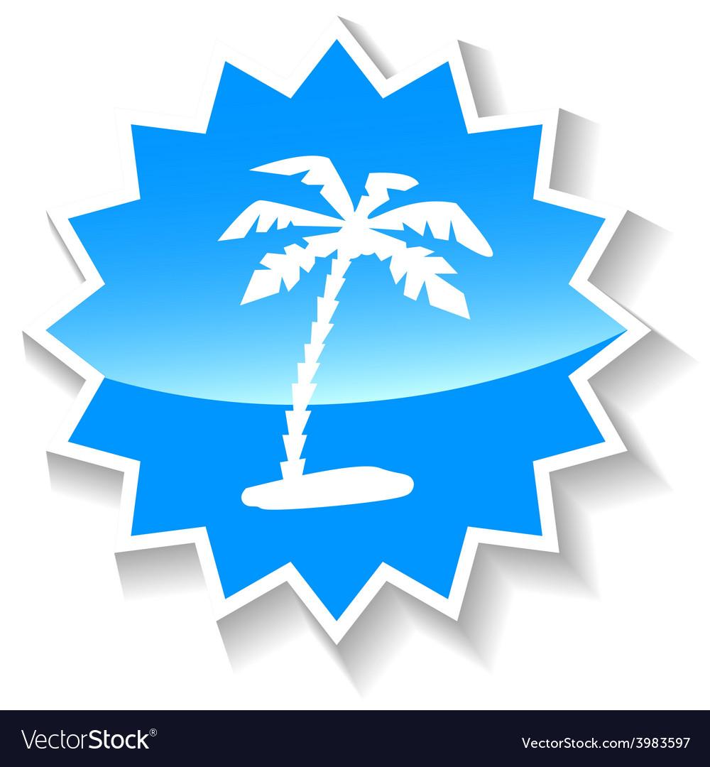 Island blue icon vector   Price: 1 Credit (USD $1)