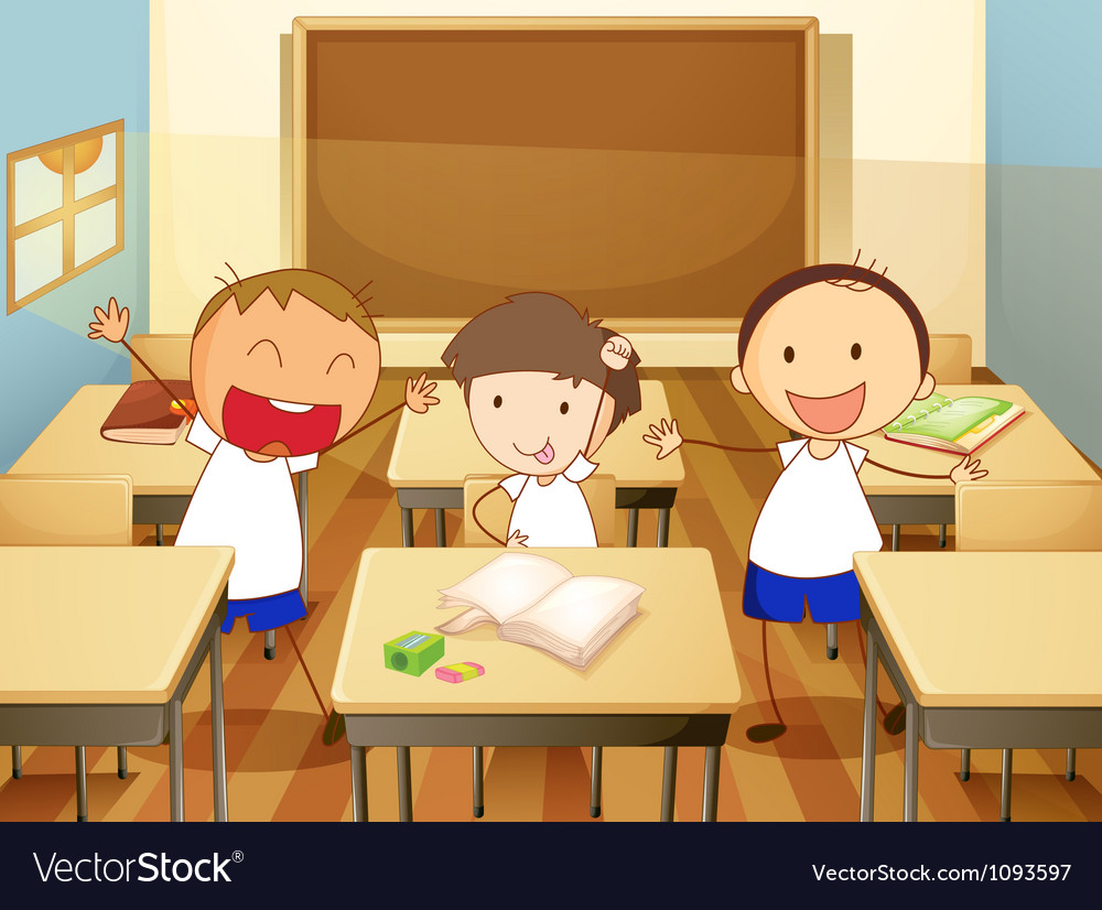 Kids in a classroom vector | Price: 1 Credit (USD $1)