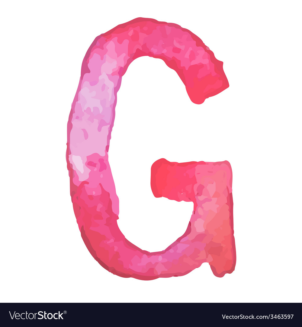 Letter g colorful watercolor aquarelle font type vector | Price: 1 Credit (USD $1)