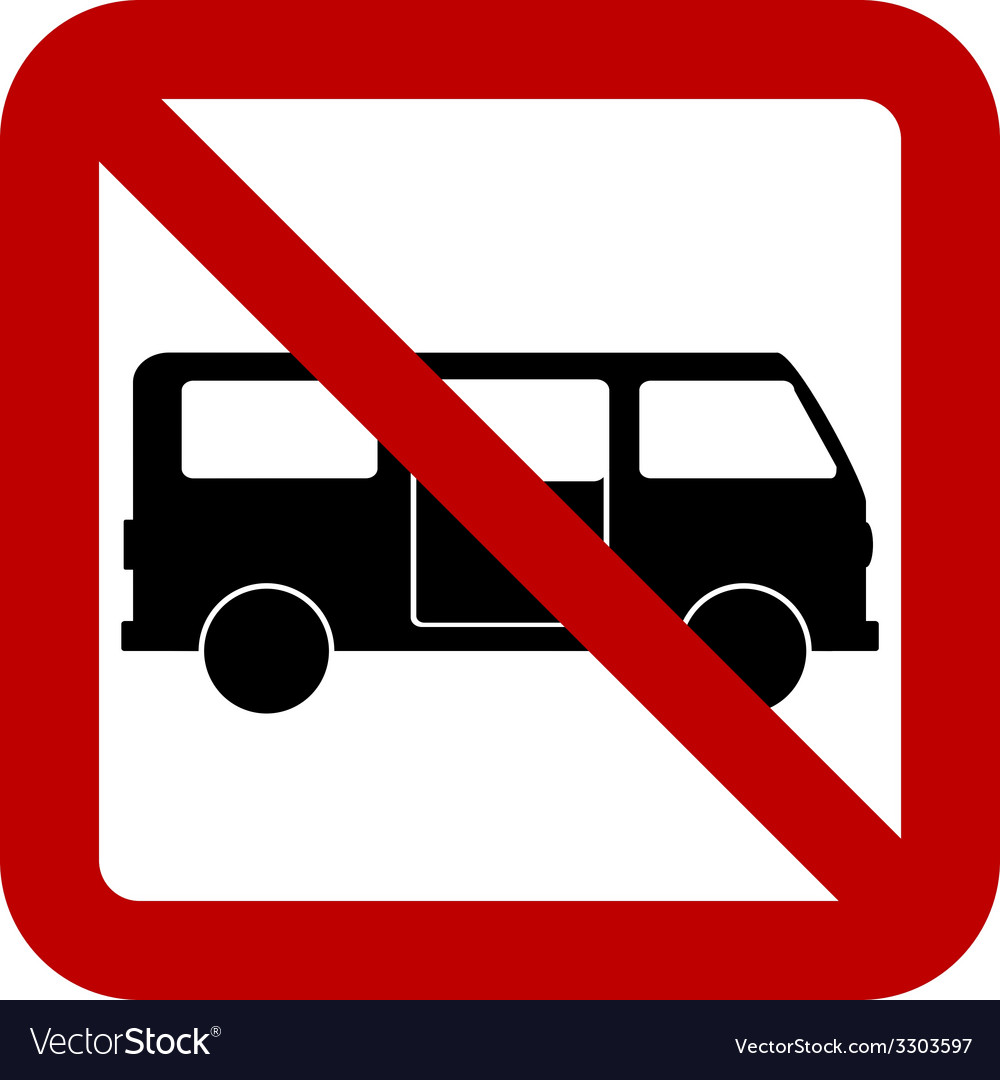 No minibus sign vector | Price: 1 Credit (USD $1)